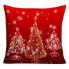 Sparkling Christmas Tree Print Decorative Pillowcase - RED W18 INCH * L18 INCH