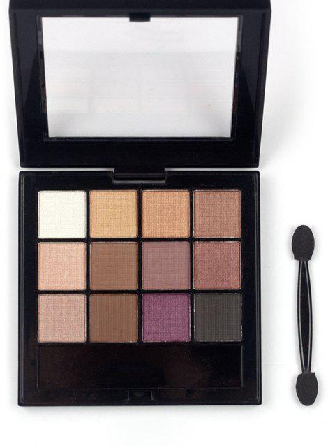 Professional 12 Colors Long Lasting Eyeshadow Palette - PATTERN A