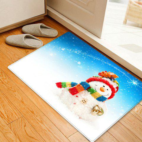 Christmas Snowman Bell Pattern Indoor Outdoor Area Rug - COLORMIX W20 INCH * L31.5 INCH
