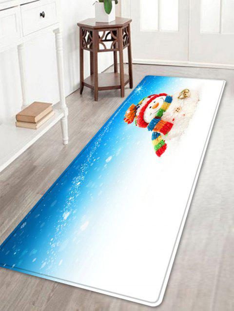 Christmas Snowman Bell Pattern Indoor Outdoor Area Rug - COLORMIX W16 INCH * L47 INCH
