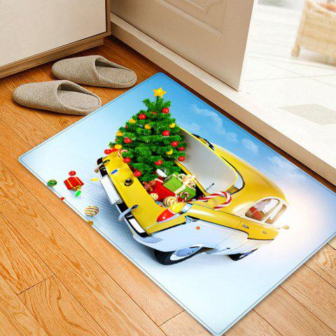 Christmas Tree In Car Pattern Indoor Outdoor Area Rug - COLORMIX W16 INCH * L24 INCH