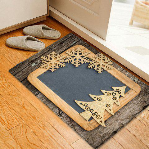 Christmas Woodgrain Tree Pattern Indoor Outdoor Area Rug - COLORMIX W20 INCH * L31.5 INCH