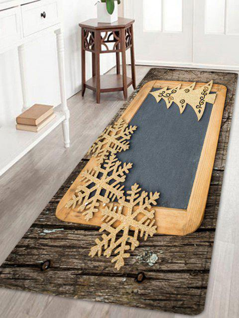 Christmas Woodgrain Tree Pattern Indoor Outdoor Area Rug - COLORMIX W24 INCH * L71 INCH