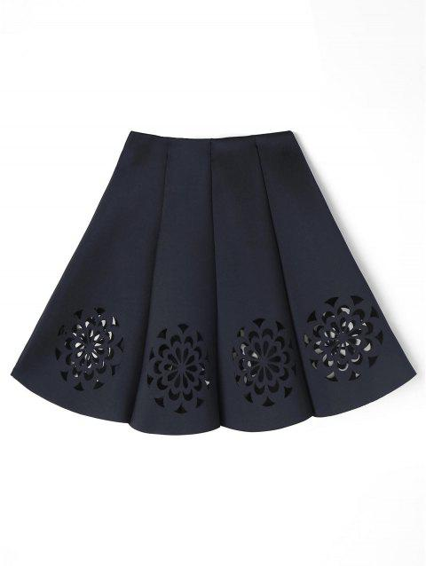 Flower Cutwork Skirt - BLACK ONE SIZE
