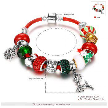 DIY Colorful Beaded Christmas Elk Bracelet -  COLORMIX