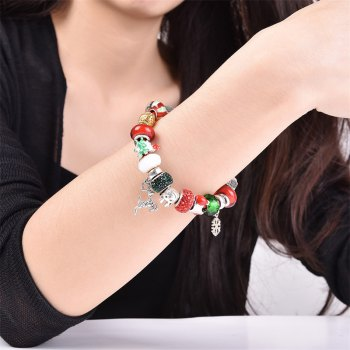 DIY Colorful Beaded Christmas Elk Bracelet - COLORMIX COLORMIX