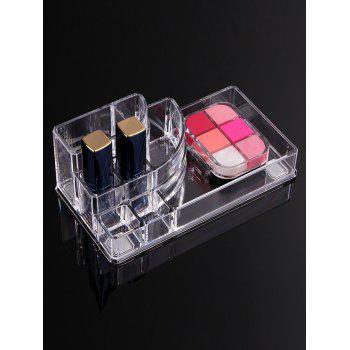 Transparent Acrylic Cosmetics Display Stand - TRANSPARENT TRANSPARENT