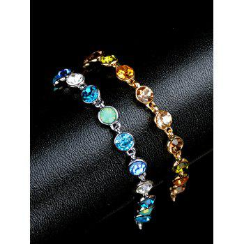 Sparkly Rhinestoned Chain Bracelet -  GOLDEN