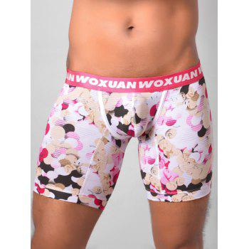 U Pouch Colorful Ball Printed Boxer Briefs - PINK PINK