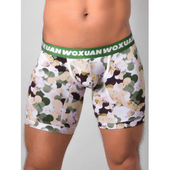 U Pouch Colorful Ball Printed Boxer Briefs - GREEN GREEN