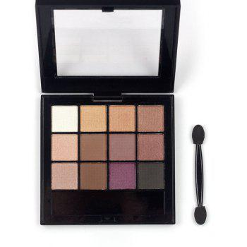 Professional 12 Colors Long Lasting Eyeshadow Palette - PATTERN A PATTERN A