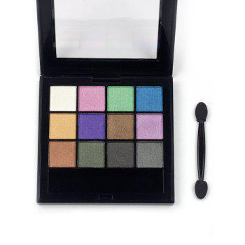 Professional 12 Colors Long Lasting Eyeshadow Palette - PATTERN C PATTERN C