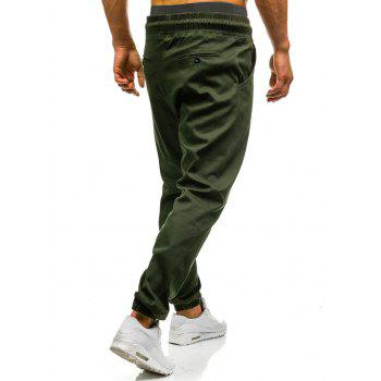 Drawstring Waist Beam Feet Jogger Pants - ARMY GREEN 3XL