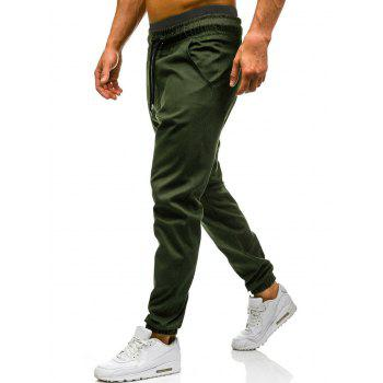 Drawstring Waist Beam Feet Jogger Pants - ARMY GREEN ARMY GREEN