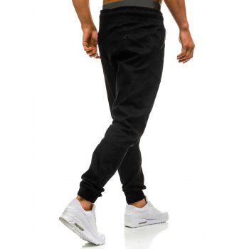 Drawstring Waist Beam Feet Jogger Pants - BLACK 3XL