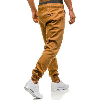 Drawstring Waist Beam Feet Jogger Pants - SUGAR HONEY L