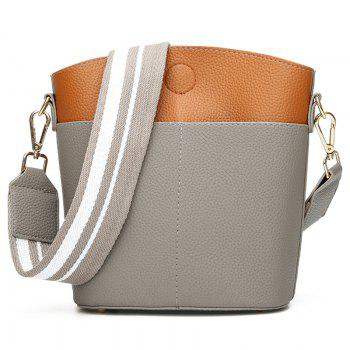 Contrasting Color 2 Pieces Shoulder Bag Set -  GRAY