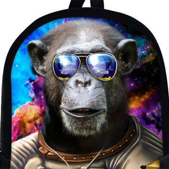 3D Print Orangutan Astronaut Backpack -  COFFEE