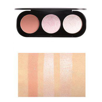 Professional 3 Colors Makeup Highlight and Blush Palette -  PATTERN B