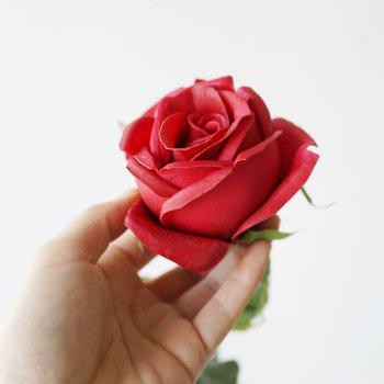 Valentine Day Gift 1 Pcs PU Artificial Rose Flower -  RED