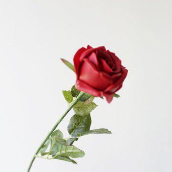 Valentine Day Gift 1 Pcs PU Artificial Rose Flower - RED RED