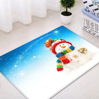 Christmas Snowman Bell Pattern Indoor Outdoor Area Rug - COLORMIX W16 INCH * L24 INCH