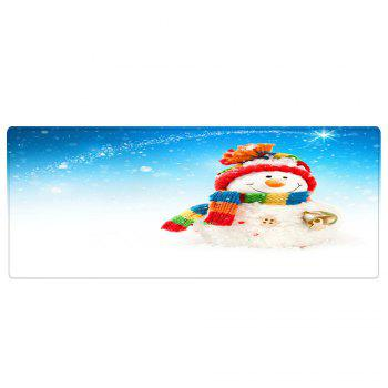 Christmas Snowman Bell Pattern Indoor Outdoor Area Rug - COLORMIX COLORMIX