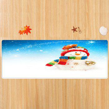 Christmas Snowman Bell Pattern Indoor Outdoor Area Rug - COLORMIX W24 INCH * L71 INCH