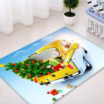 Christmas Tree In Car Pattern Indoor Outdoor Area Rug - COLORMIX COLORMIX