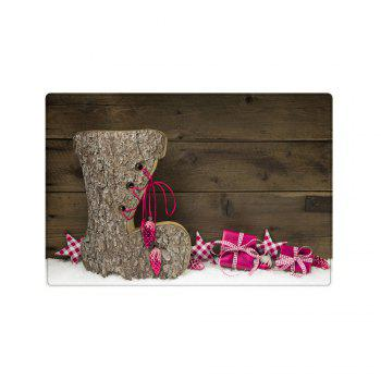 Christmas Wood Shoe Pattern Indoor Outdoor Area Rug - WOOD W16 INCH * L24 INCH