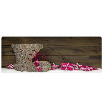 Christmas Wood Shoe Pattern Indoor Outdoor Area Rug - WOOD W16 INCH * L47 INCH