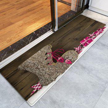 Christmas Wood Shoe Pattern Indoor Outdoor Area Rug - WOOD W24 INCH * L71 INCH