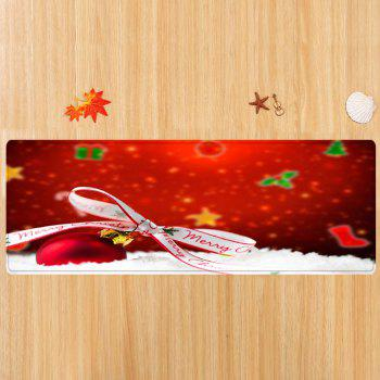 Christmas Bowknot Ball Pattern Indoor Outdoor Area Rug - RED W24 INCH * L71 INCH