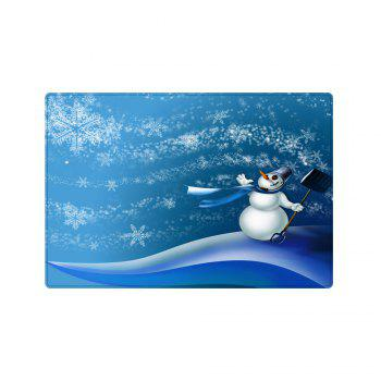 Christmas Snowman Snowflakes Pattern Indoor Outdoor Area Rug - BLUE BLUE
