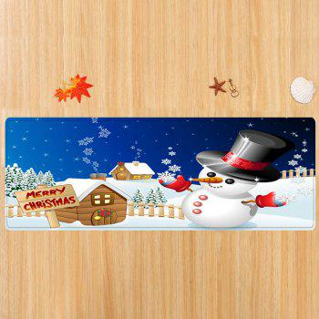 Christmas Snowman House Pattern Indoor Outdoor Area Rug - COLORMIX COLORMIX