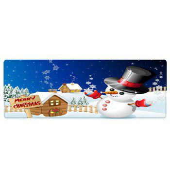 Christmas Snowman House Pattern Indoor Outdoor Area Rug - COLORMIX W24 INCH * L71 INCH