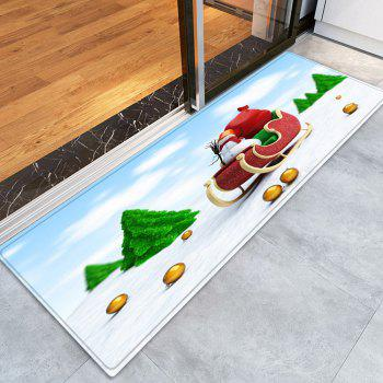 Christmas Trees Sleigh Pattern Indoor Outdoor Area Rug - COLORMIX W24 INCH * L71 INCH