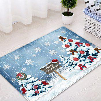 Christmas Trees Snowflakes Pattern Indoor Outdoor Area Rug - COLORMIX W20 INCH * L31.5 INCH