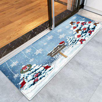 Christmas Trees Snowflakes Pattern Indoor Outdoor Area Rug - COLORMIX COLORMIX