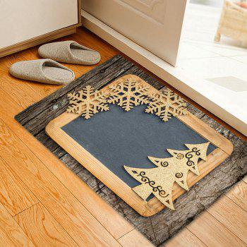 Christmas Woodgrain Tree Pattern Indoor Outdoor Area Rug - COLORMIX COLORMIX
