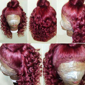 Long Free Part Shaggy Loose Wave Lace Front Synthetic Wig - WINE RED WINE RED