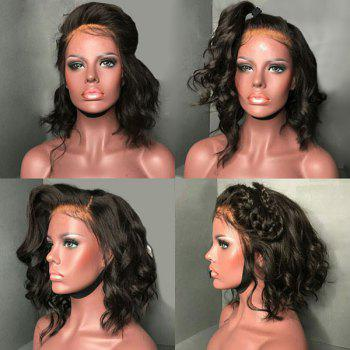 Medium Free Part Fluffy Loose Wave Synthetic Lace Front Wig - BLACK BLACK
