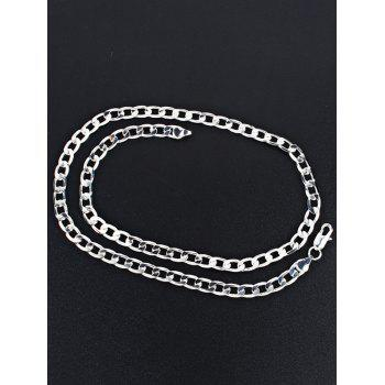 Cool Stainless Steel Chain Necklace - SILVER