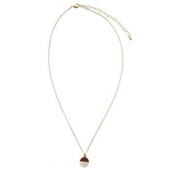 Two Tone Round Pendant Necklace - GOLDEN GOLDEN