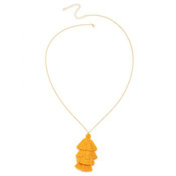 Bohemian Tassel Layered Necklace - YELLOW YELLOW