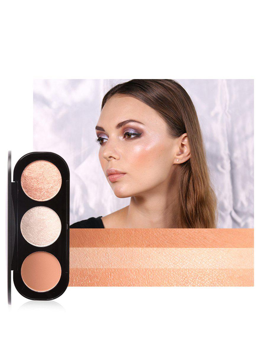 Professional 3 Colors Makeup Highlight and Blush Palette - PATTERN C