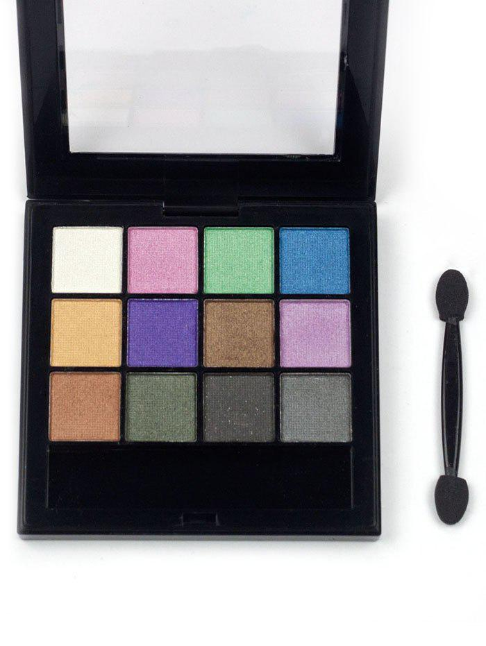 Professional 12 Colors Long Lasting Eyeshadow Palette - PATTERN C