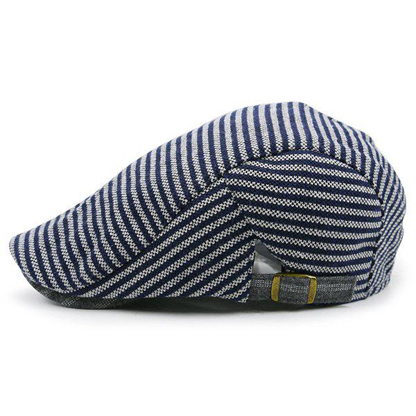 Stripe Pattern Embellished Adjustable Newsboy Hat цена 2017
