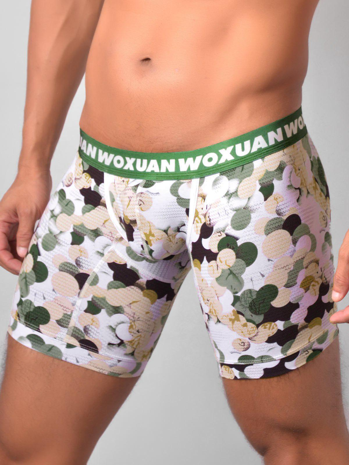 U Pouch Colorful Ball Printed Boxer Briefs - GREEN L