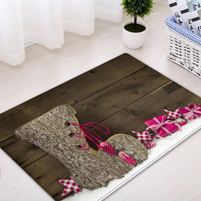Christmas Wood Shoe Pattern Indoor Outdoor Area Rug - WOOD W20 INCH * L31.5 INCH